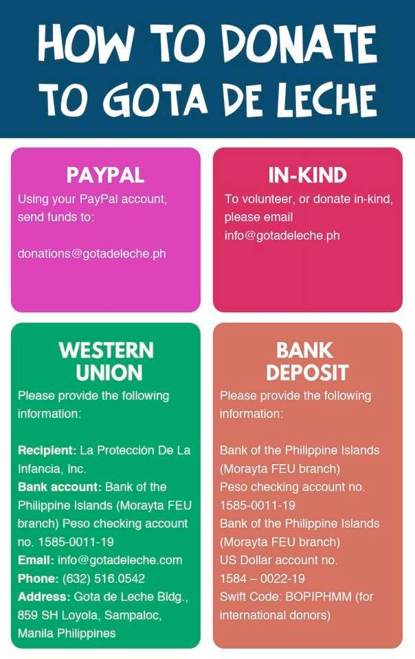 How to Donate to Gota de Leche